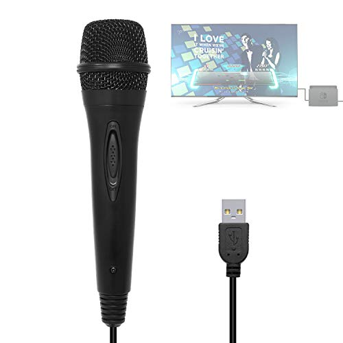 3M/10ft Wired USB Microphone for Nintendo Switch, Wii U, PS4
